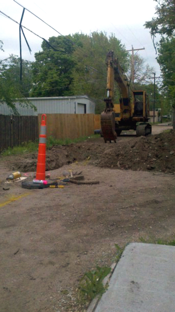 Digging Sewer Line in Wichita, Kansas